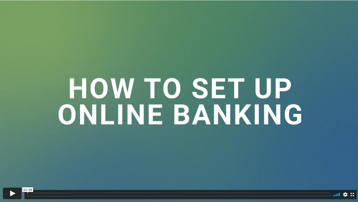 sign up for online banking