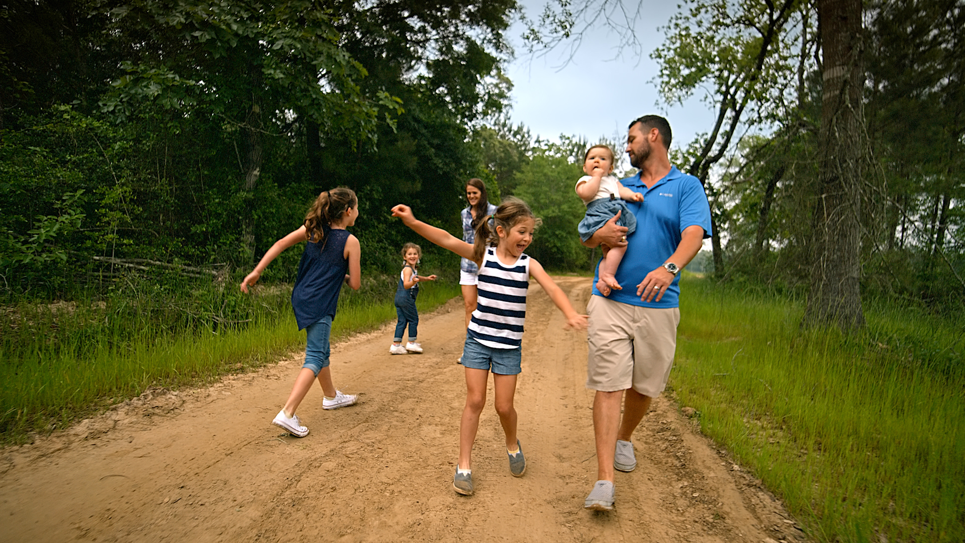 Griffith Family On Path